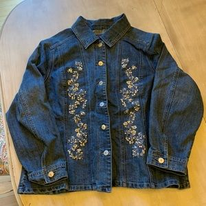 Baccini Denim Jean Sequined Jacket
